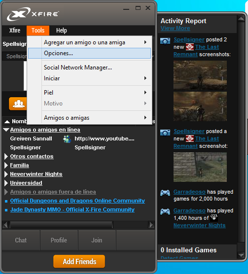 Xfire Gaming Client - Guía de instalación y uso [En Desuso] 6